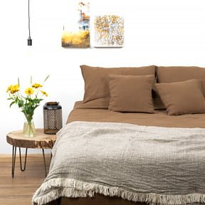 Lina un kokvilnas gultas veļa