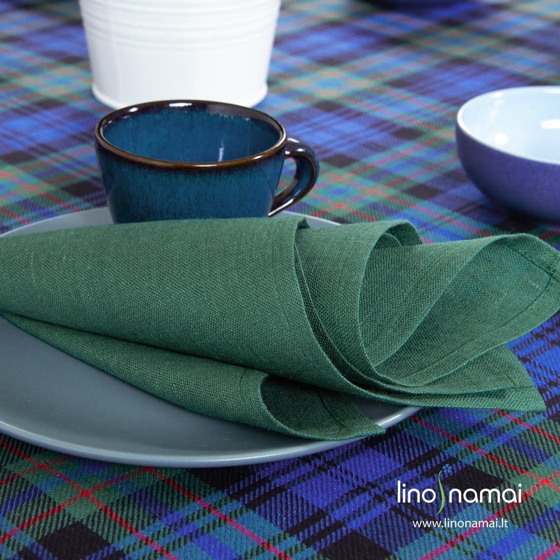 Puslininė tamsiai žalia servetėlė
