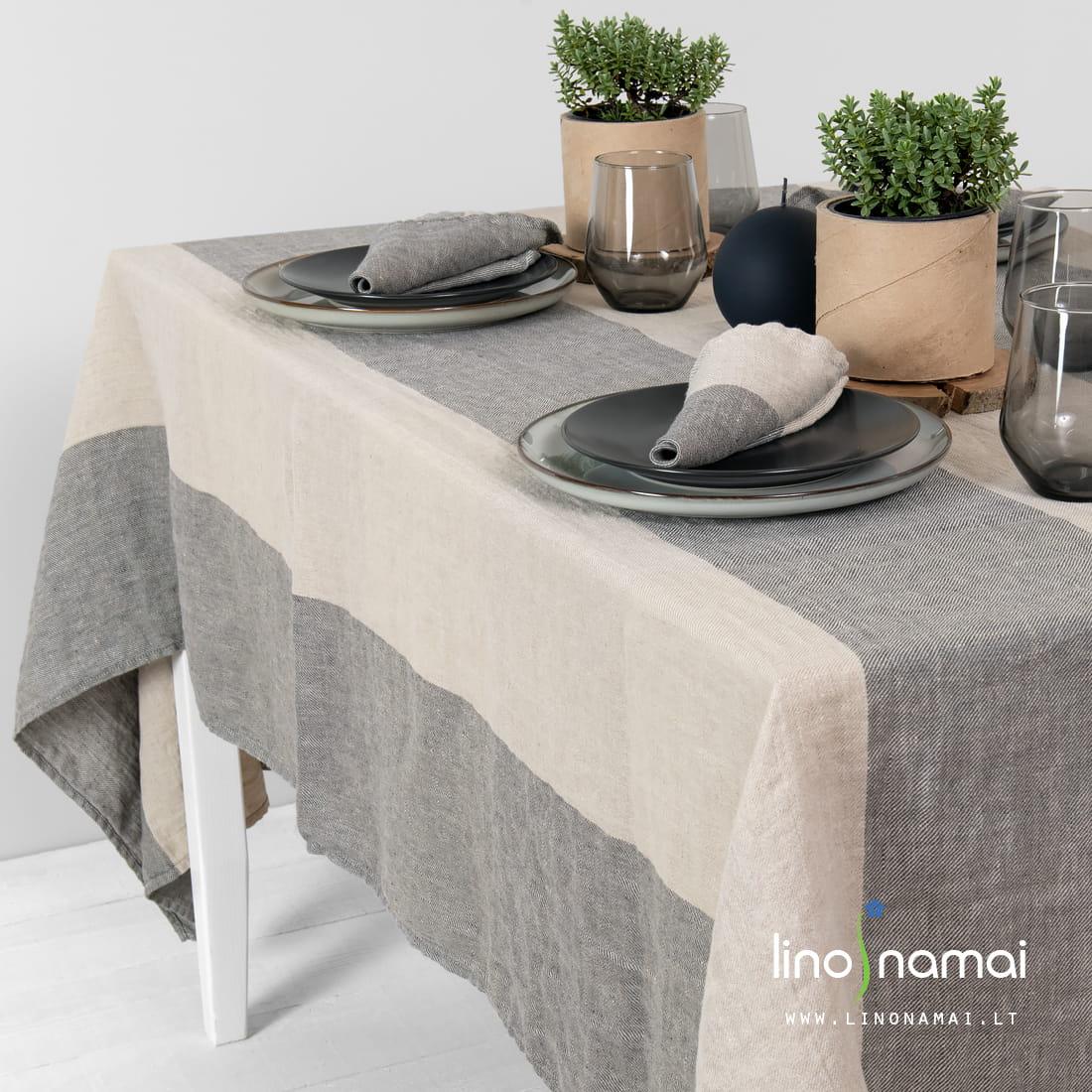 Lininė staltiesė dryžuota | Kaledinių dovanų idėjos