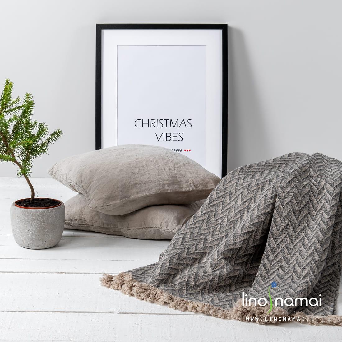 Lininis pledas su zigzagais | Kalėdinių dovanų gidas