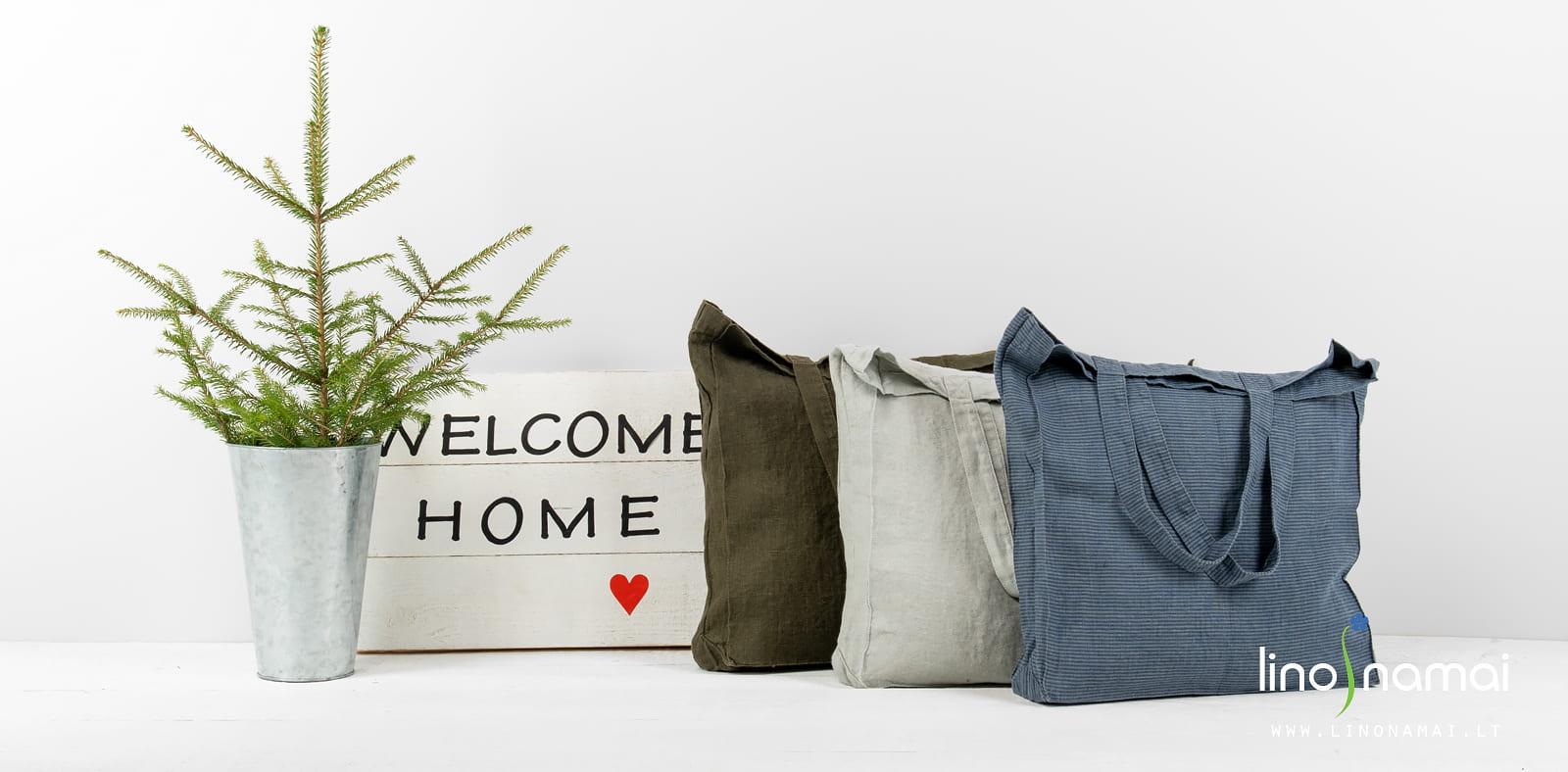 Lininės rankinės krepšiai | Kalėdinių dovanų gidas