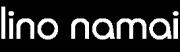 Lino Namai logotipas baltos spalvos